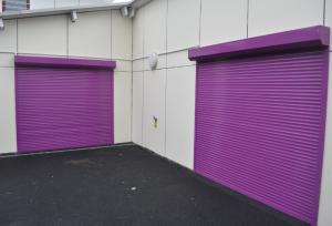 Roller Shutters Purple Closed