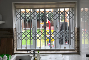 Retractable Grille Kitchen Window