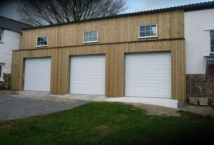 3 White Garages