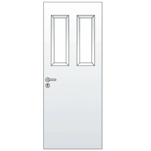 Standard Single Steel Door with 2 Vision Panels