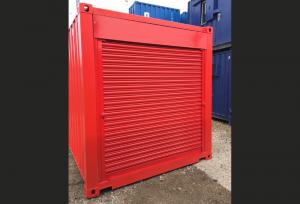Red Steel Shutters