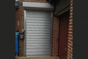 Steel Shutters on Door