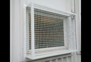 White Mesh Grilles