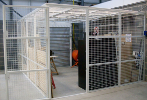 White Steel Cage