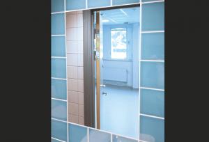 Hammerglass Mirrors - Public Toilet