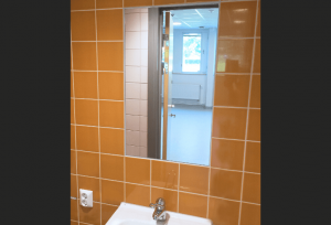 Hammerglass Mirrors - Public Bathroom