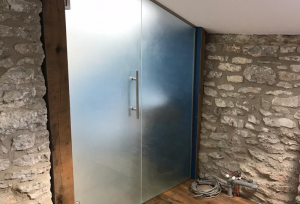 Opaque Laminated Glass Doors