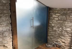 Opaque Laminated Glass Doors