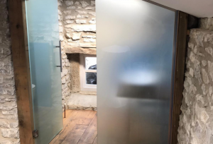 Laminated Glass Opaque Doors
